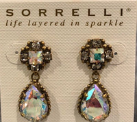 Sorrelli Aurora Boreslis Pear Cut Crystal Drop Earrings