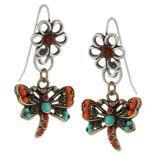 Petite Butterfly Dangle Bronze