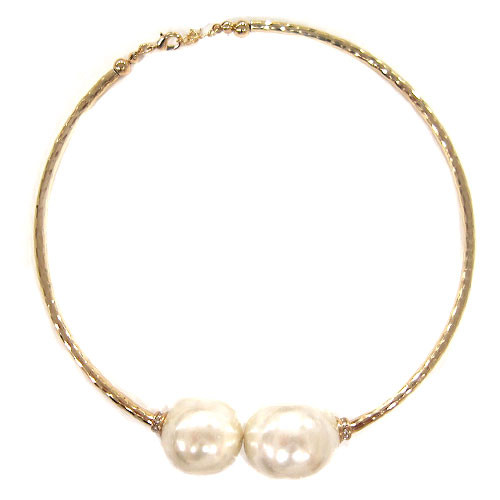 Large Gold and Pearl Bauble Collar