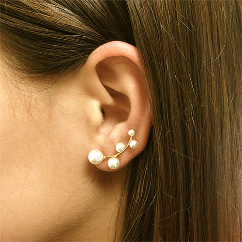 Pearl Branch Ear Cuff