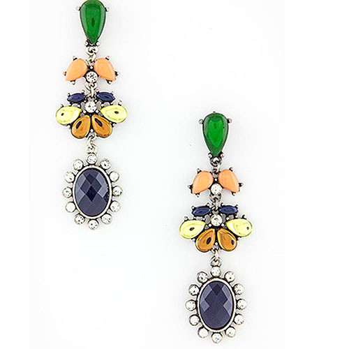 Mixed Jewel Dangle Earring