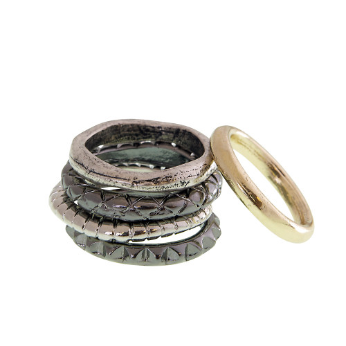 Multi Texture and Color Stackable Rings