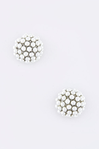 Seed Pearl Cluster Earring