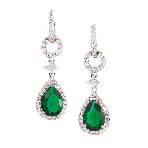 Emerald Teardrop Dangle