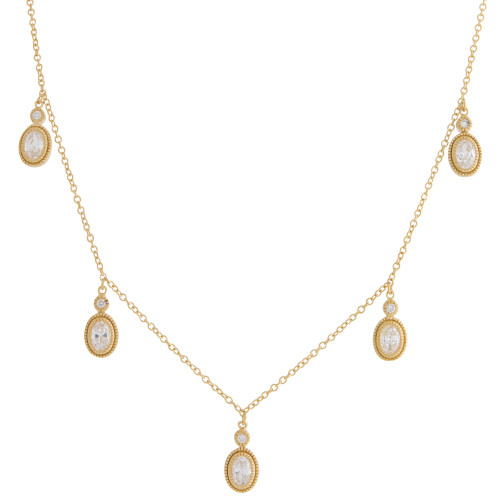 Freida Rothman's Five Station Oval Dangle in Gold