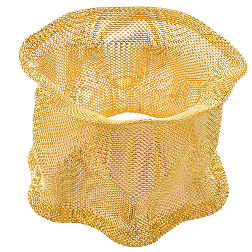 Sculptural Metal Mesh Cuff