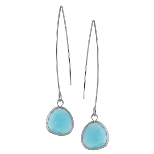 Light Blue Ocean Crystal Dangle