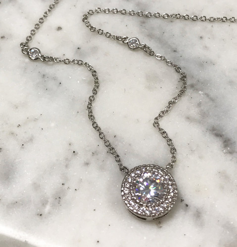 3 Karat Round C.Z. Necklace