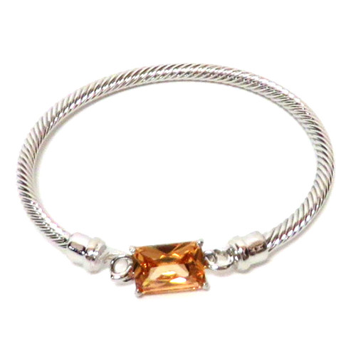 Twisted Cable and Rectangle Crystal Topaz