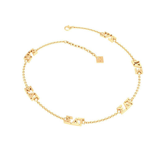 Sigma Delta Tau Gold Plated Multi Mini Bracelet