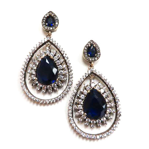 Byzantine Empire Turkish Sapphire Earrings