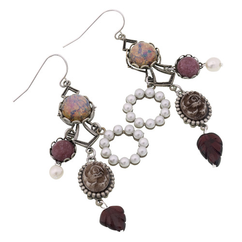 Moonstone and Charms Earring