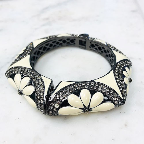 Upper East Side Blooming Bangle Black and White