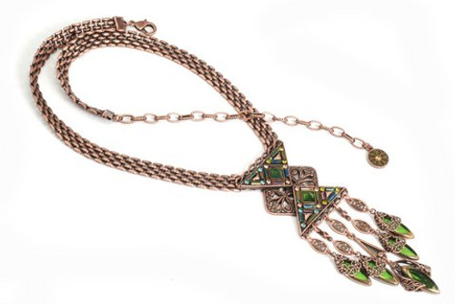Rose Gold Art Deco Necklace