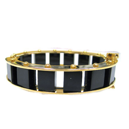 Narrow Jet Ladder Cuff Bracelet