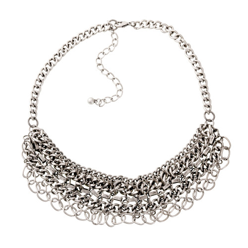 Chains on Chains Bib Necklace