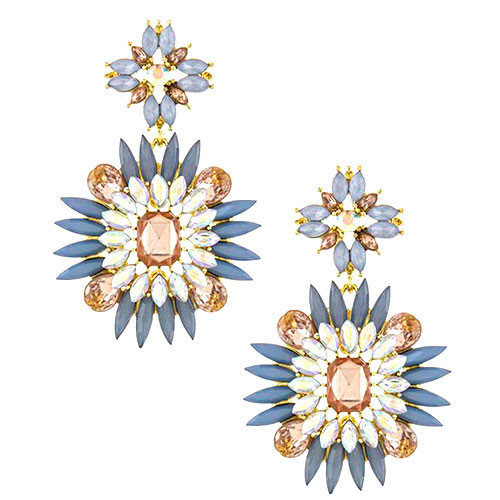 Spikey Crystal Jeweled Earring 3