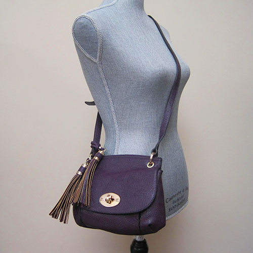 Sondra Roberts Aubergine Cross Body Saddlebag