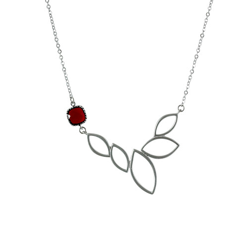 Lotus Flower with Red Crystal