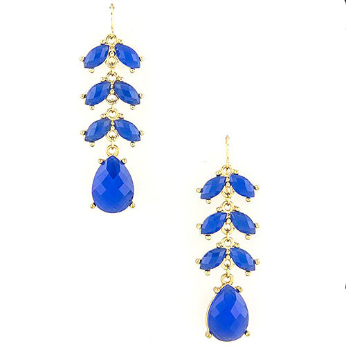 Royal Blue Petals Earring