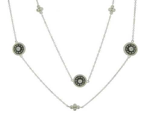 "Freida Rothman's 36""å Shield Medallion Necklace B/S"