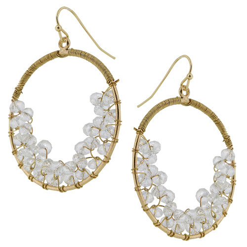 Clear AB Crystal Hoops