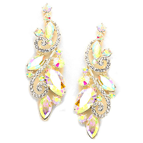 Large Shoulder Duster Arora Borealis Earring