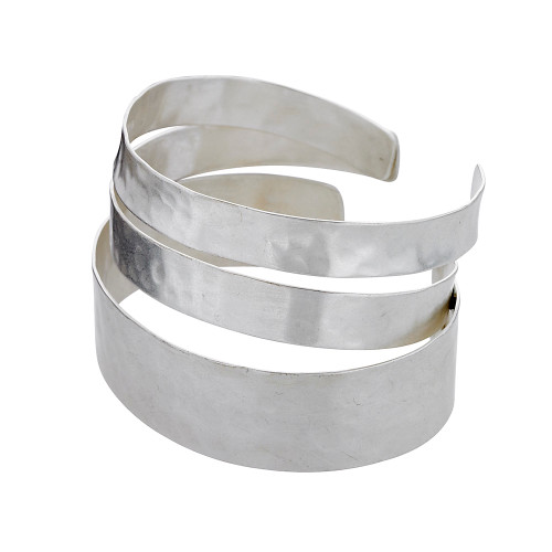 Three Hammered Bands Cuff