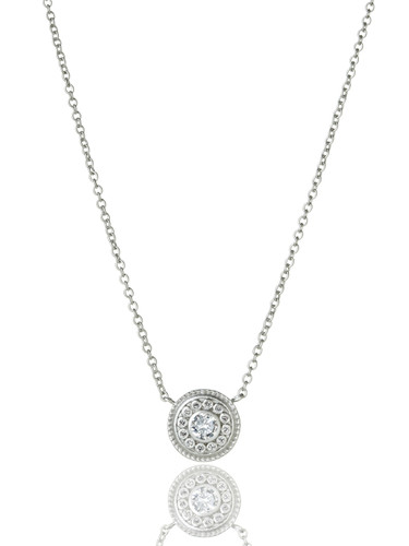 Shield Medallion Necklace in Silver
