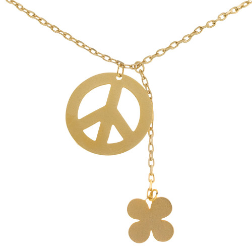 Retro Peace Sign Necklace