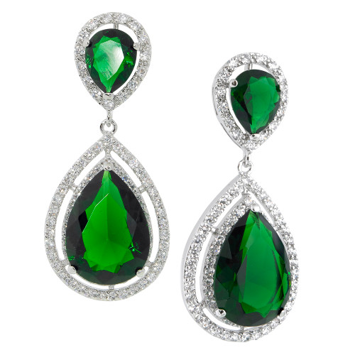 The Angelina Emerald Tear Drop Earrings