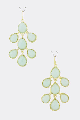 Mint Sorbet Teardrop Branch Earrings