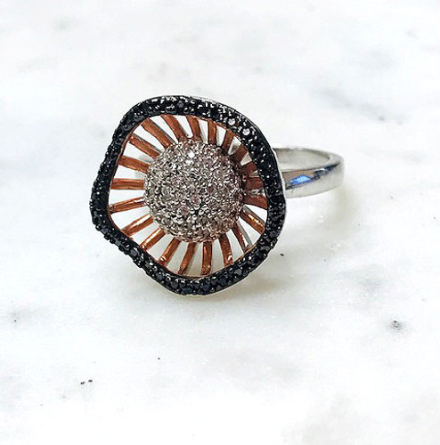 Rose Gold Lotus Blossom Ring