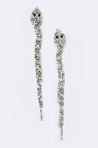 Crystal Snake Shoulder Dusters