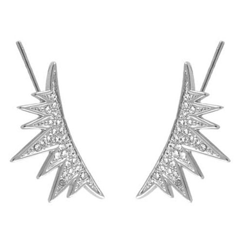 C.C. Skye Eyelash Ear Runners in Silver