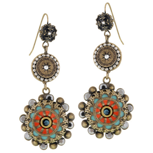 Ancient Enamel Earring
