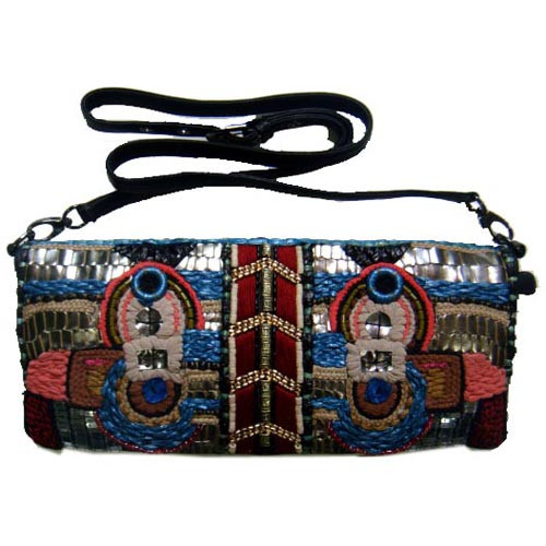 The Ravi Tribal Beaded Clutch