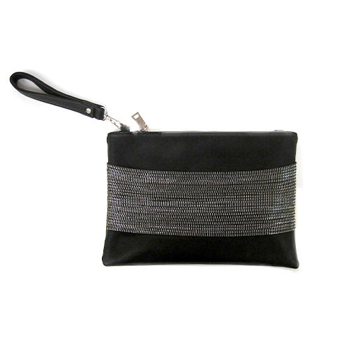 Sondra Roberts Zipper Chain Detailed Nappa Clutch