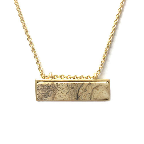 Granite Stone Bar Necklace