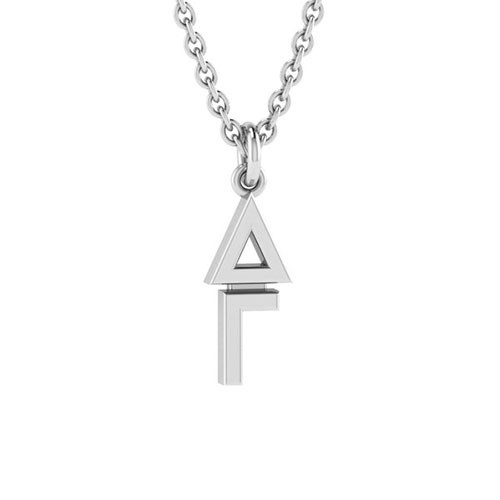 Delta Gamma Silver Original Lavalier Necklace