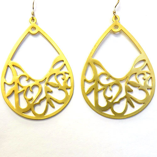 Open Teardrop Filigree Earring