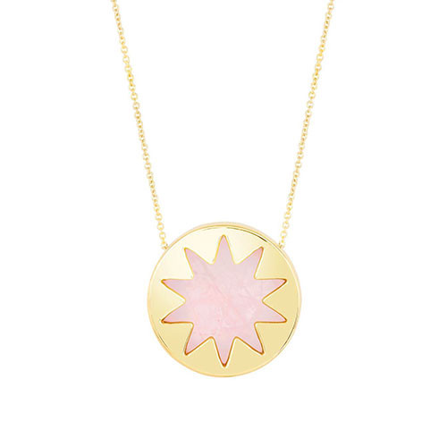 House of Harlow Mini Rose Quartz Sunburst