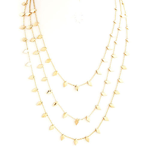 Small Flat Diamond Layered Chains Gold