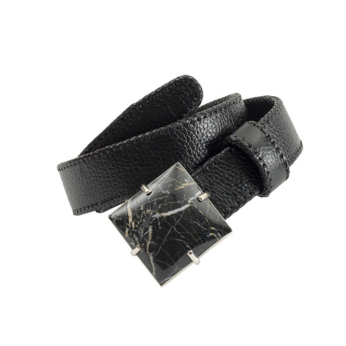 Black Onyx Square Buckle Belt
