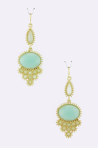 Mint Sorbet Oval Dangles