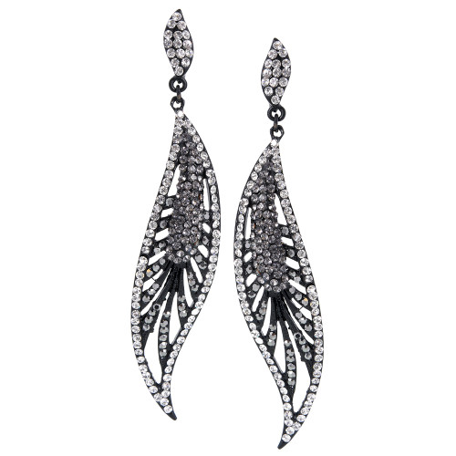 Long Filigree Leaf Earring
