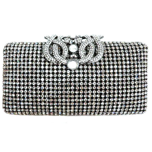 Crystal and Black Passimentry Clutch