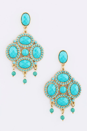 Exotic Turquoise Treasure Earring