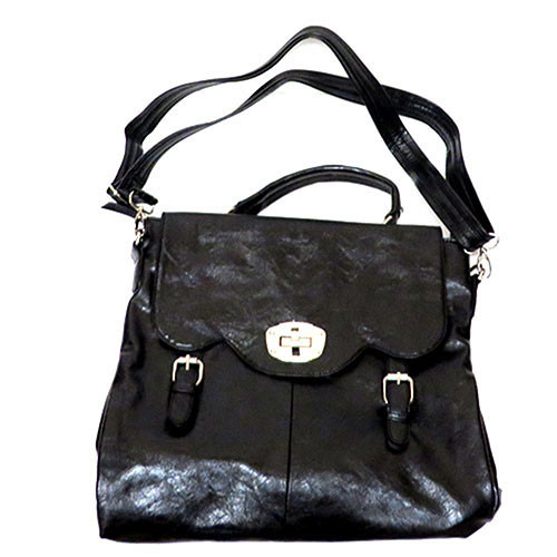 Top Handle Black Satchel
