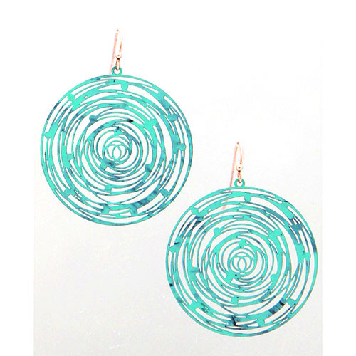 Patina Concentric Circles Earring